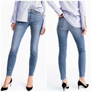 J. Crew Toothpick Skinny Jeans Raw Hem Bryson Wash